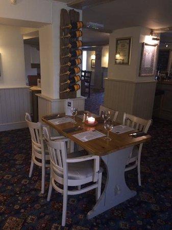 Greyhound Inn: table