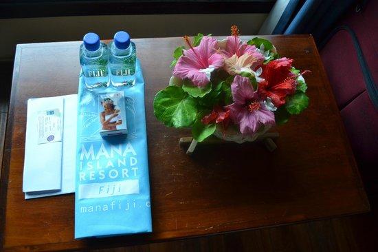 Mana Island Resort: In room beauty!