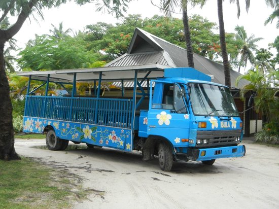 Mana Island Resort: Bula bus!