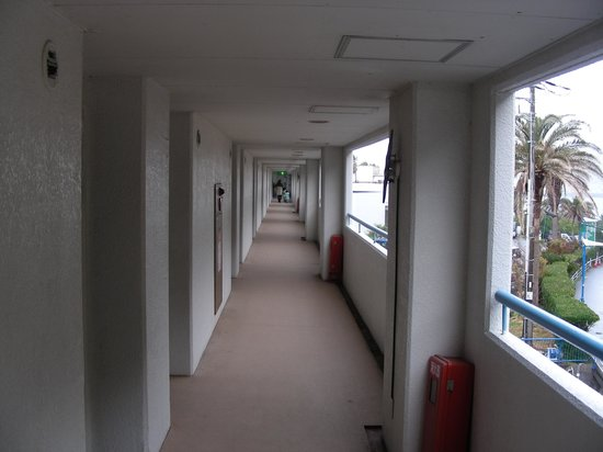 Hotel Green Plaza Kamogawa: 外廊下