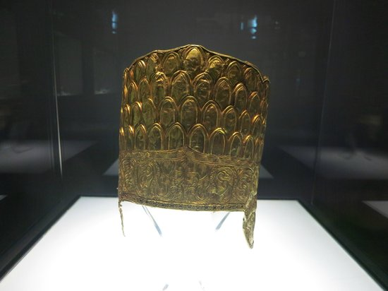 Vietnam National Museum of History: gold Champa crown