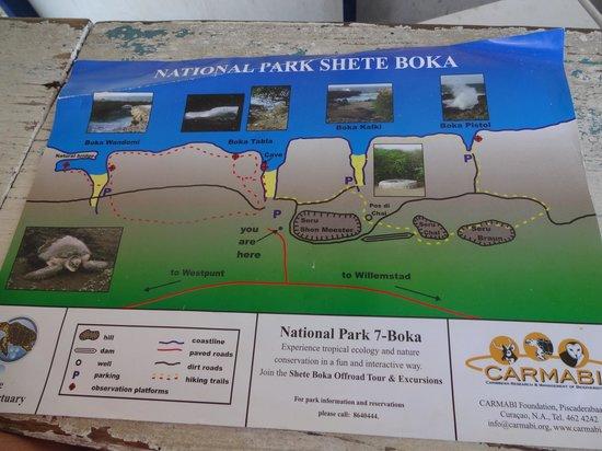 Shete Boka National Park: Mapa