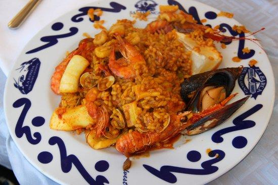 Restaurante Salamanca: Plato de paella de marisco del Restaurant Salamanca