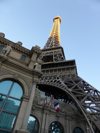 Eiffel Tower Experience at Paris Las Vegas : Eiffel tower from the ground