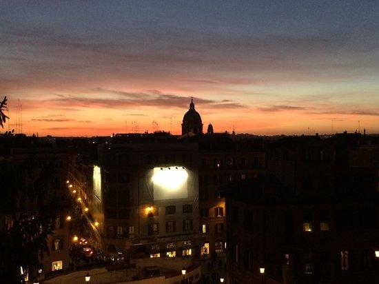 Place d'Espagne (Piazza di Spagna) : Sunset