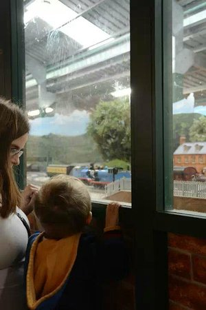 Drayton Manor Park: On tiptoes to see the model train