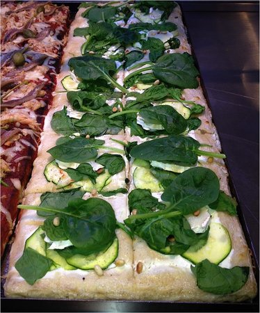 SETTANTA Pizza Gourmet : Pizza Epinards, courgettes et 5 fromages