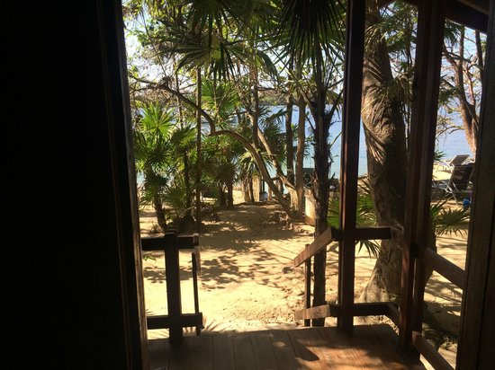 Half Moon Resort: View from inside Cabin #3