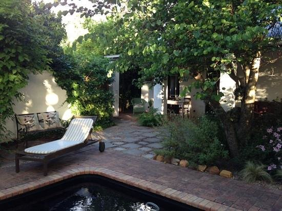 Akademie Street Boutique Hotel and Guest House : the private pool are of Vreugde where we stayed.