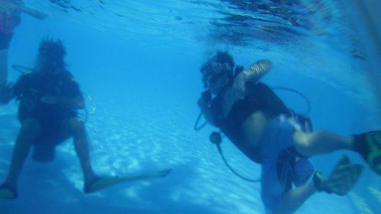 Iberostar Paraiso Beach : clases de buceo en la piscina