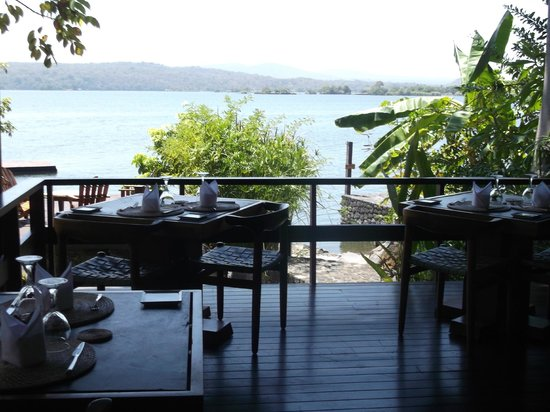 Jicaro Island Ecolodge Granada: restaurant with a breathtaking view