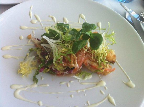 Republic Restaurant : Menu of the Day Starter, Tempura Crab Salad