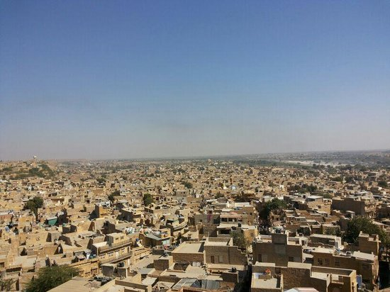 Jaisalmer city overlooked from hotel Rajmandir