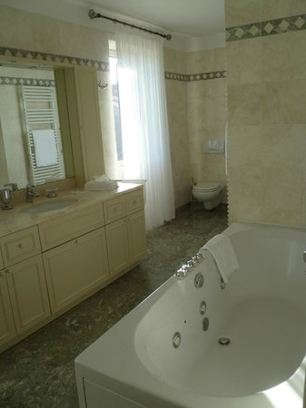 Villa Tuttorotto: huge bathroom--shower and jacuzzi
