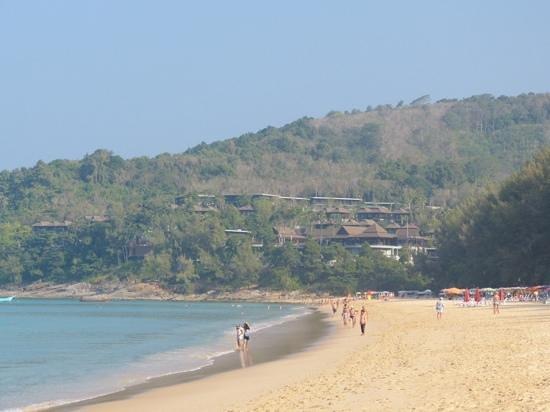 Pullman Phuket Arcadia Naithon Beach: Nai Thon beach with hotel at end