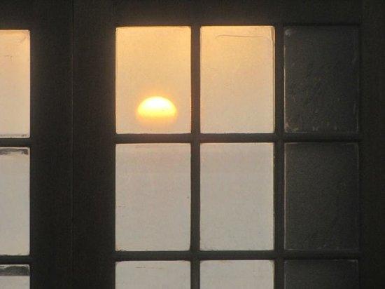Walvis Bay Waterfront: Sunset through 2 windows