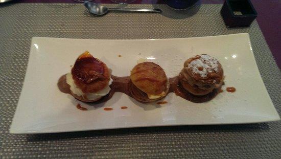 Carpe Diem : Trilogie de choux vanille chocolat praliné