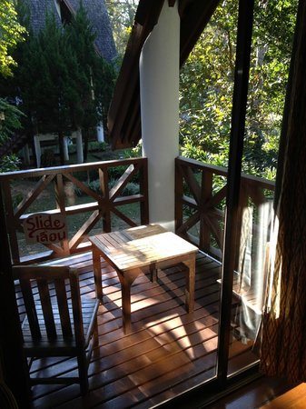 Royal Ping Garden & Resort: Private balkon