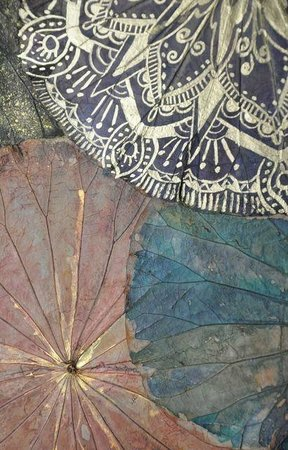 Himapan Gallery: A close up of the lotus painting
