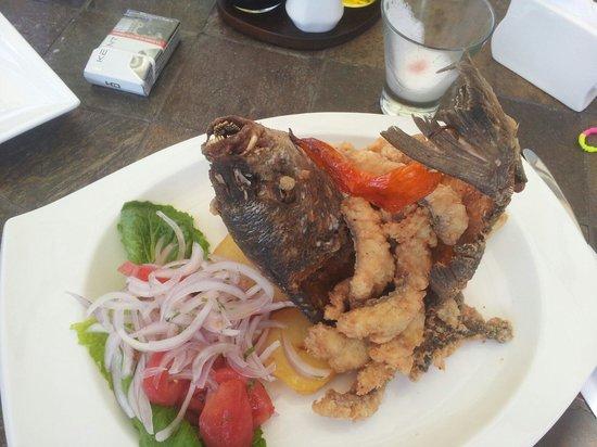 Restaurante Rayu: Sargo o chita en chicharròn