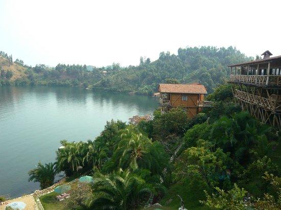Cormoran Lodge : View from the room on lake Kivu