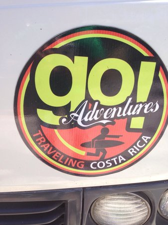 Go Adventures Traveling Costa Rica: The logo of the van