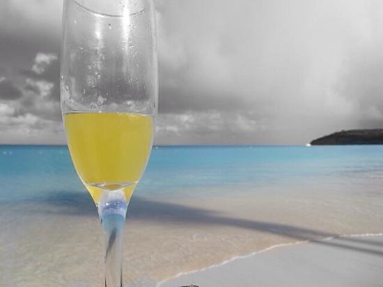 Sandals Grande Antigua Resort & Spa : mimosas on the beach every morning