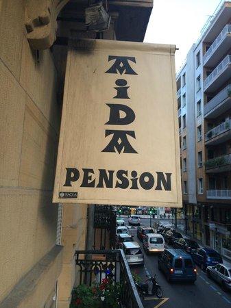 Pension Aida: ホテル看板