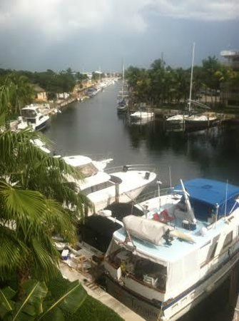 Courtyard Key Largo: view of marina from our balcony