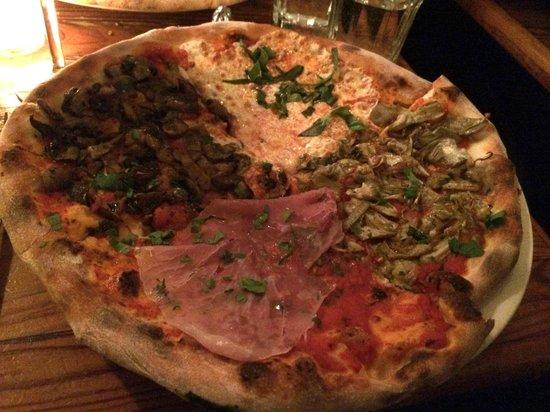 Celeste: Quattro stagione pizza