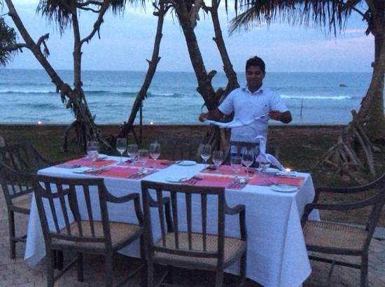 Mosvold Villa: our dinner is prepared