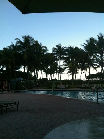 Holiday Inn Miami Beach: Relaxing evening at the pool