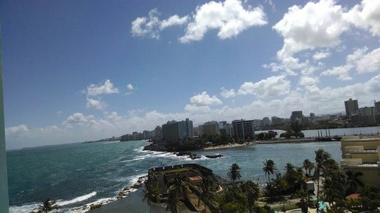 Caribe Hilton San Juan: View from our hotel room.