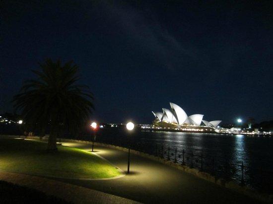 Park Hyatt Sydney: Night view from Room 12