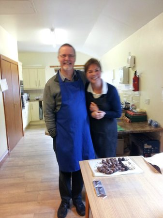 Cocoa Mountain Auchterarder: Dave with lovely Carol