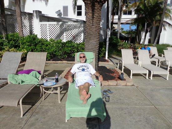 Sanibel Harbour Marriott Resort & Spa: Me enjoying the private pool area.