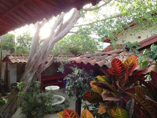 Hotel Los Volcanes B&B: Courtyard by day