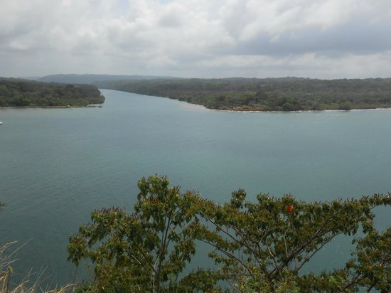 Adventures Panama : View of Rio Chagres from Fort San Lorenzo