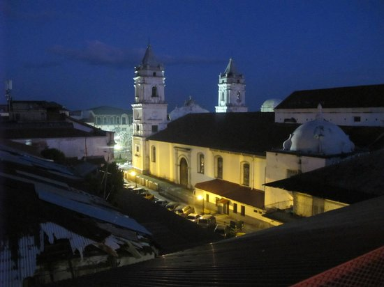 Patty's Casitas: Old church near Casco loft from roof deck at Tantalo restaurant