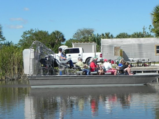 Everglades Adventure: An airboat like the one we took.