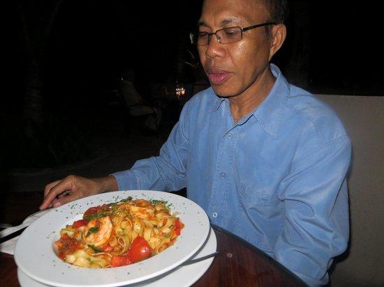Buccanos at Night: Seafood Fettuchine
