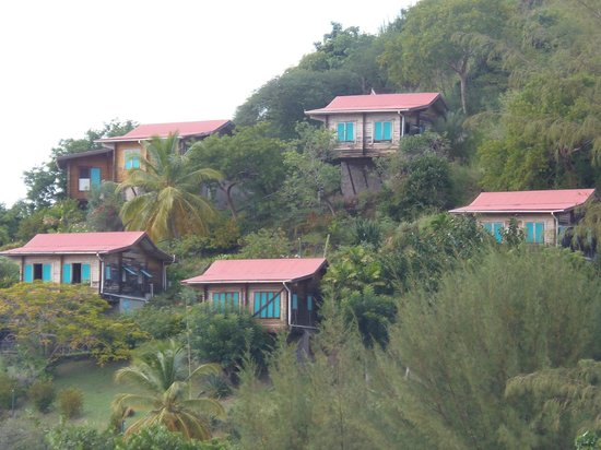 Oualie Beach Resort: Houses nearby