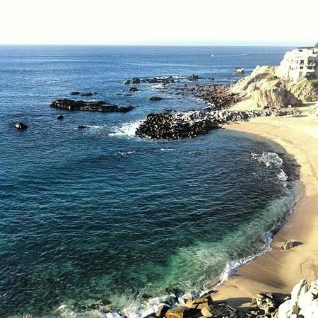 """Welk Resorts Sirena Del Mar: """"Private"""" beach view from 3rd floor suite. It was just a quick walk down the spiral staircase."""