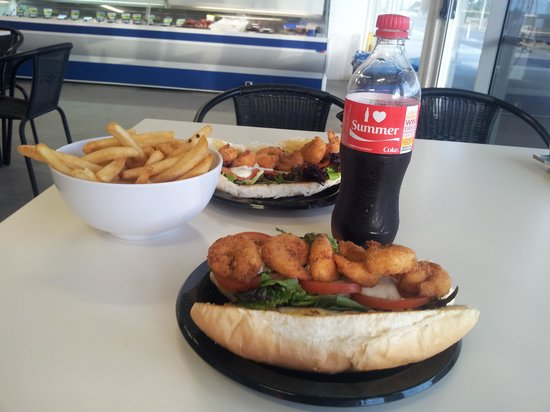 Kangaroo Island Fresh Seafoods: sandwich di gamberetti ed insalata.