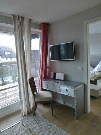 Hotel Hapag 54 Grad Nord : Helle Zimmer mit Balkon