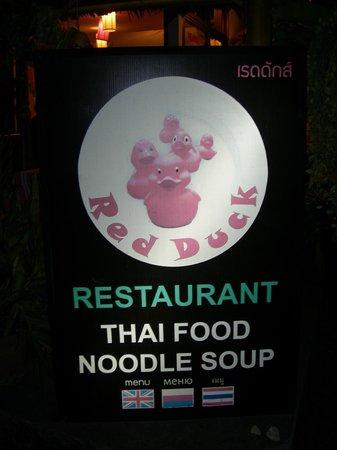 Red Duck Restaurant: insegna ristorante
