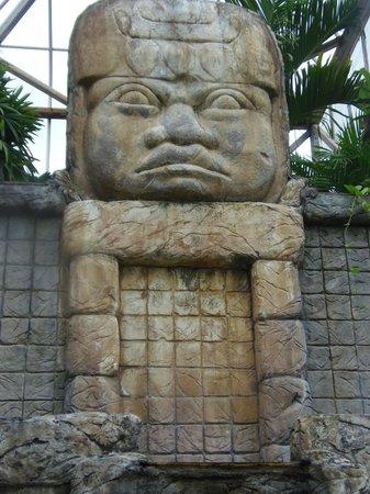 Botanical Gardens of Nevis: Mayan sculpture