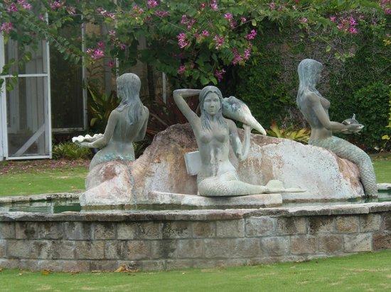 Botanical Gardens of Nevis: Mermaid sculpture