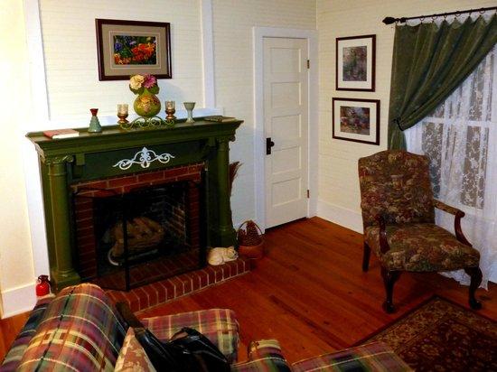 Inn at Folkston: Kamin in der English Garden Suite
