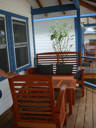Maya Beach Hotel: Porch of Kingfish Suite
